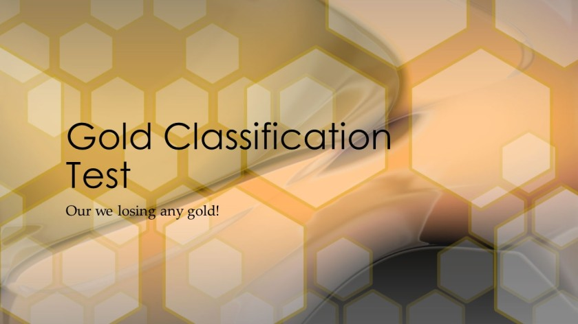 Gold Classification Test1